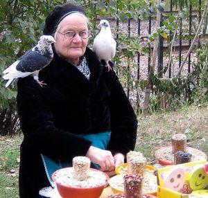 Бабуля и голуби